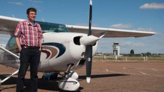 Ben Robinson with plane
