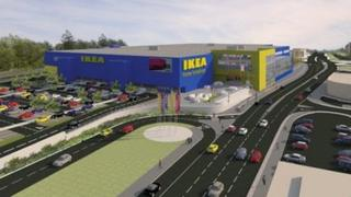 Artist's impression of the new IKEA