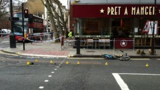 Scene of cycle accident