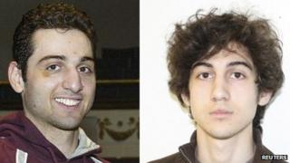 Tamerlan Tsarnaev (L), 26, and his brother Dzhokhar Tsarnaev, 19