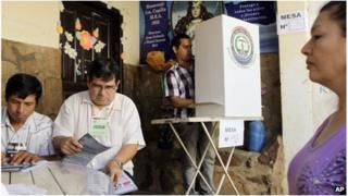 Paraguay citizens vote