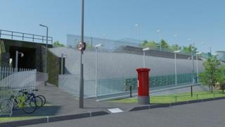 Artist's impression of Energlyn and Churchill Park's new station