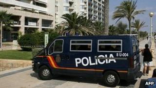 Spanish police van - file pic