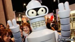 Bender from Futurama at 2008 Comic Con