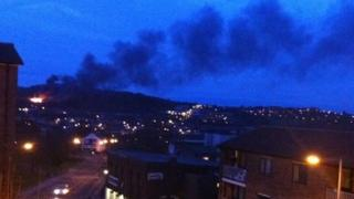 Ski village fire 24 April 2013