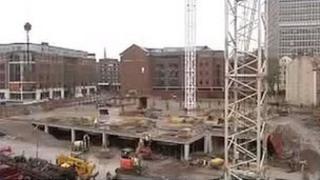 Construction work at Finzels Green