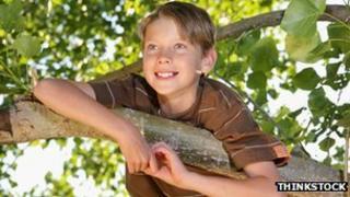 Boy in a tree