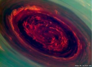 Cassini image of Saturn hurricane