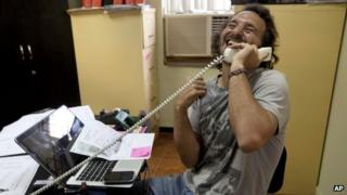 Rodrigo Abd the moment he finds out he has won the Pulitzer Prize