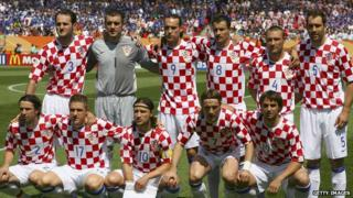 Team shot of Croatia's national football side