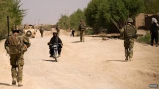 British soldiers on patrol in Afghanistan in 2011