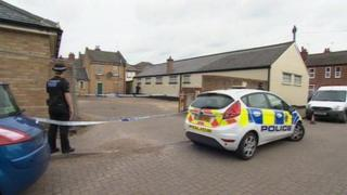 Police cordon at property at Chelmsford house