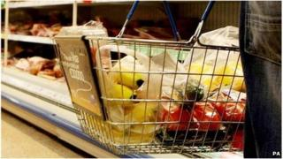 A shopping basket