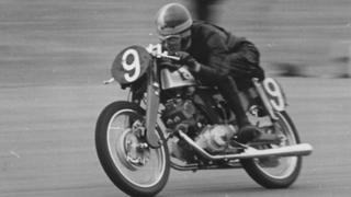 Motorbike racing at Silverstone in 1961