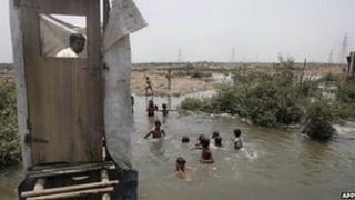 Toilet in India village