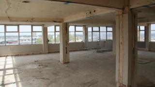Interior of Westlegate House today.