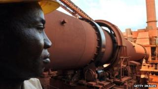 Bauxite factory in mineral-rich Guinea (Archive shot)