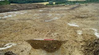 Archaeological dig at the site of the Haverhill Research Park