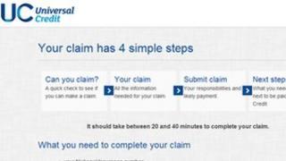 universal credit claim form