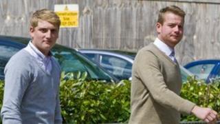 Liam Skinner (l) and Billy Millar (r)