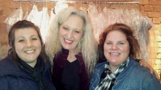 Debbie Bright with fans