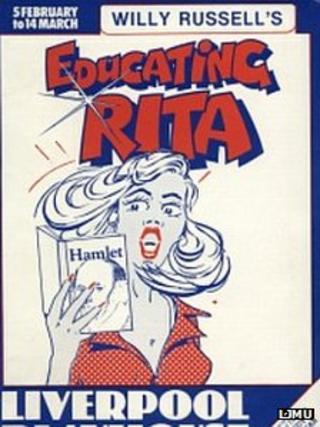 Poster advertising a production of Educating Rita