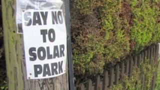 Solar Farm protest sign, Tattingstone