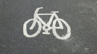 Generic cycle lanes symbol