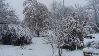 Snow in Newcastle-on-Clun