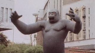 King Kong outside the Bull Ring in the early 1970s