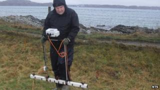 Alastair Wilson surveys land on Iona