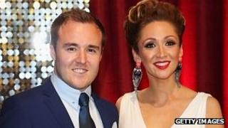 Alan Halsall and wife Lucy-Jo Hudson at the British Soap Awards