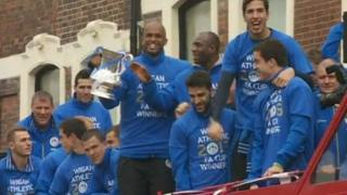 Wigan Athletic team with the FA Cup