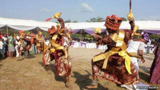 Dancers at an Igbo funeral
