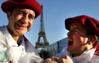Beret wearers and the Eiffel Tower