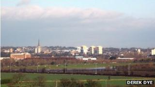 A view of Wakefield, West Yorkshire