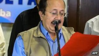 Andres Paris, Farc spokesman