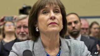 Lois Lerner appears before Congress, in Washington DC 22 May 2013