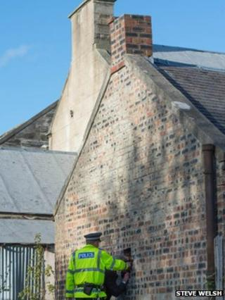Boy trapped in chimney stack