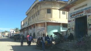 A street in Mogadishu, Somalia - May 2013