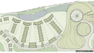 The plans for the eco village.
