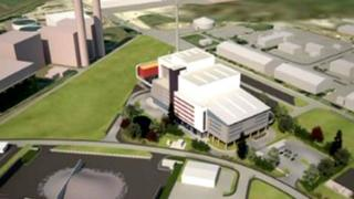 Artist's impression of waste incinerator