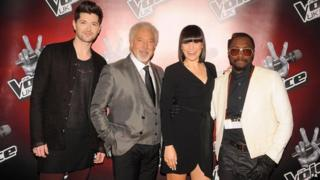The Voice coaches Danny O'Donoghue, Sir Tom Jones, Jessie J and will.i.am