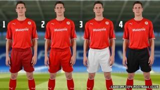 Mark Hudson in new club kit
