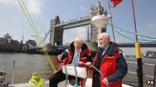 London Mayor Boris Johnson and Sir Robin Knox-Johnston