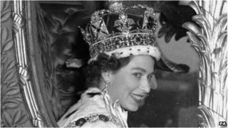 Queen Elizabeth II on her Coronation Day