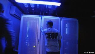 A worker at Ceop
