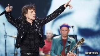 The Rolling Stones performing in Chicago on 28 May