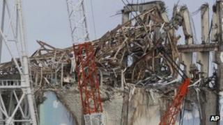 Damaged reactor 3 at Fukushima nuclear plant. File photo