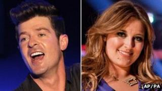 Robin Thicke and Leanne Mitchell